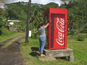 Des distributeurs de boissons sucrées dans nos paysages