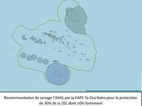 Recommandations de la FAPE – Te Ora Naho pour le zonage de la grande aire marine gérée de Polynésie