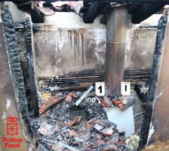 Incendio producido por una chimenea.