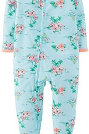Carter's Baby Girls' Print Footie - Hawaiin 12M