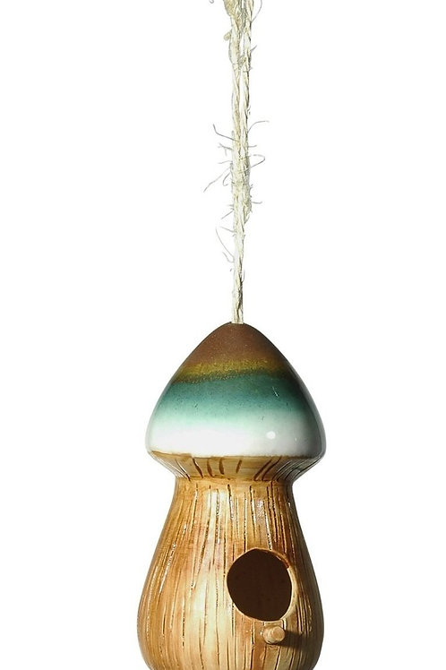 8 x 4 inch Grasslands Road Bird House Mushroom