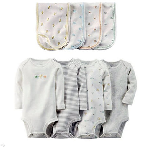 Carter's New Born Delicate Animal Print Bundle