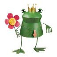 Grasslands Road Metal Dancing Frog Prince, 17-inch