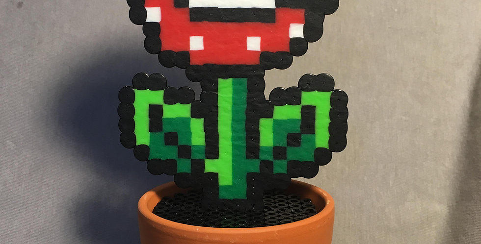 Piranha Potted Plant Pixel Art