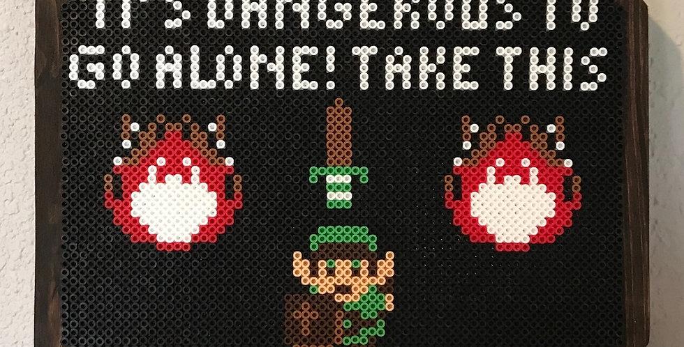 Legend of Zelda Pixel Key Chain Holder