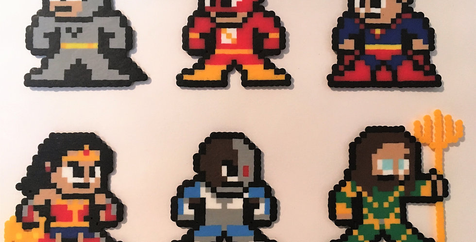 Justice League Pixel Art Collection