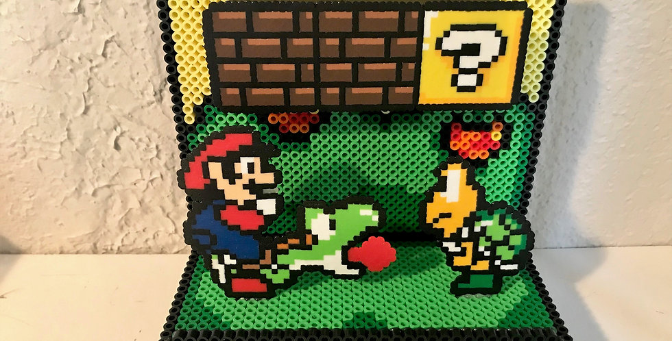Mario Figure Pixelated Diorama