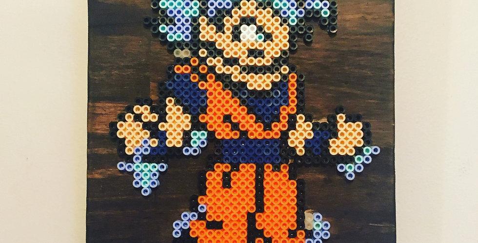 Goku Super Saiyan God Pixel Art