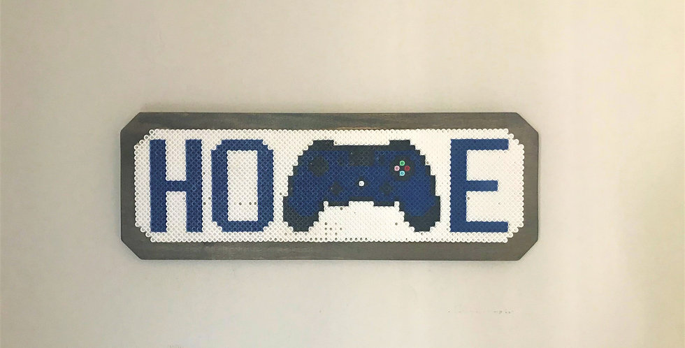 Pixel Home Sign with PS4 Controller