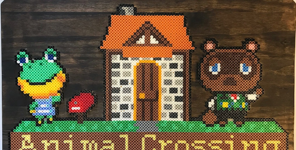 Tom Nook & Henry Animal Crossing Pixel Art