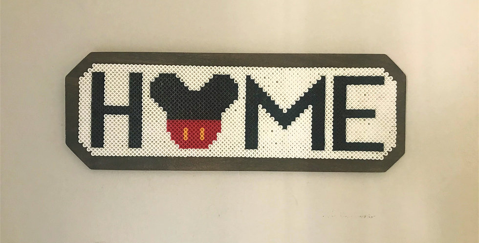 Mickey Home Pixel Sign