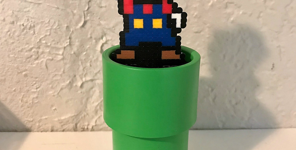 Victory Mario Pipe Pixel Art