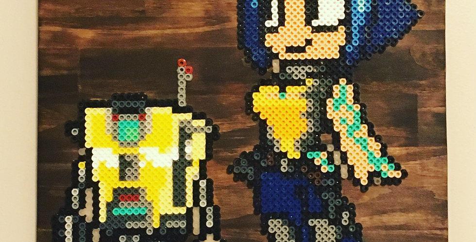 Claptrap and Maya Pixel Art