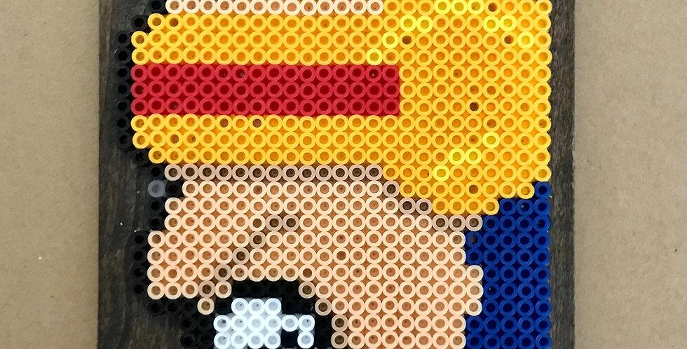 Cyclops Wood Mounted Pixel Art