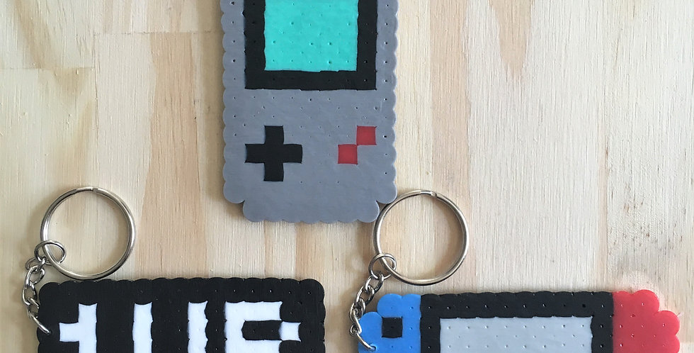 Gaming Pixel Keychains