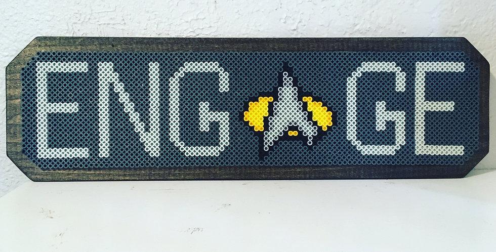 Engage Wood Mounted Pixel Art