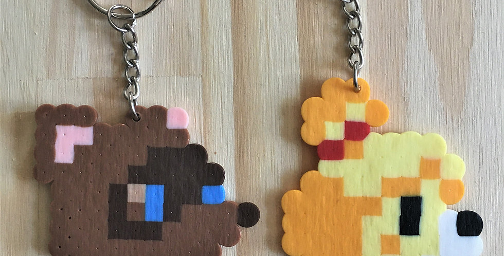 Animal Crossing Pixel Keychains