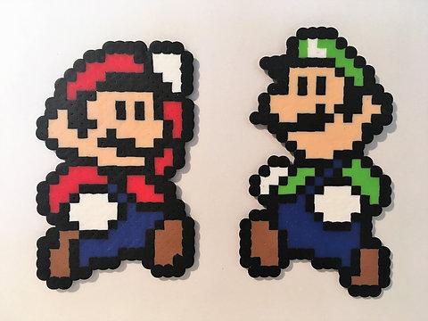 Mario Luigi Pixel Art