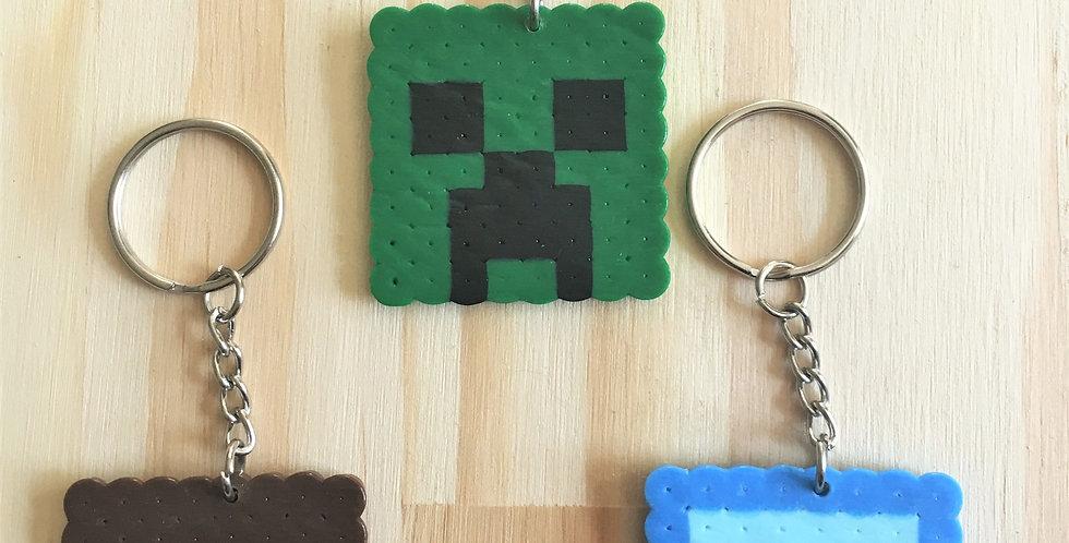 Minecraft Pixel Keychains