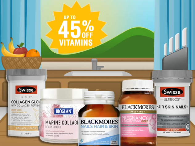 Chemist Warehouse; Vitamins social post