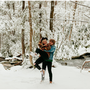 Max + Ren | Winter Couples Session | Blackwater Falls State Park, West Virginia |