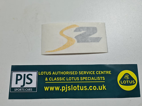 Decal S2 silver / yellow