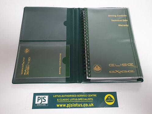 Owners Handbook Pack - Elise / Exige
