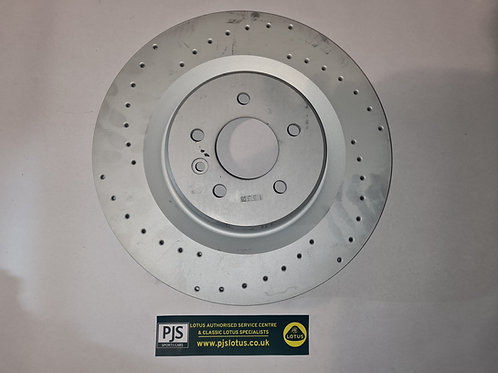 Brake Disc, front, cross-drilled, LH