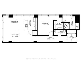 101 Richmond Ave - Floor Plan (with Meas