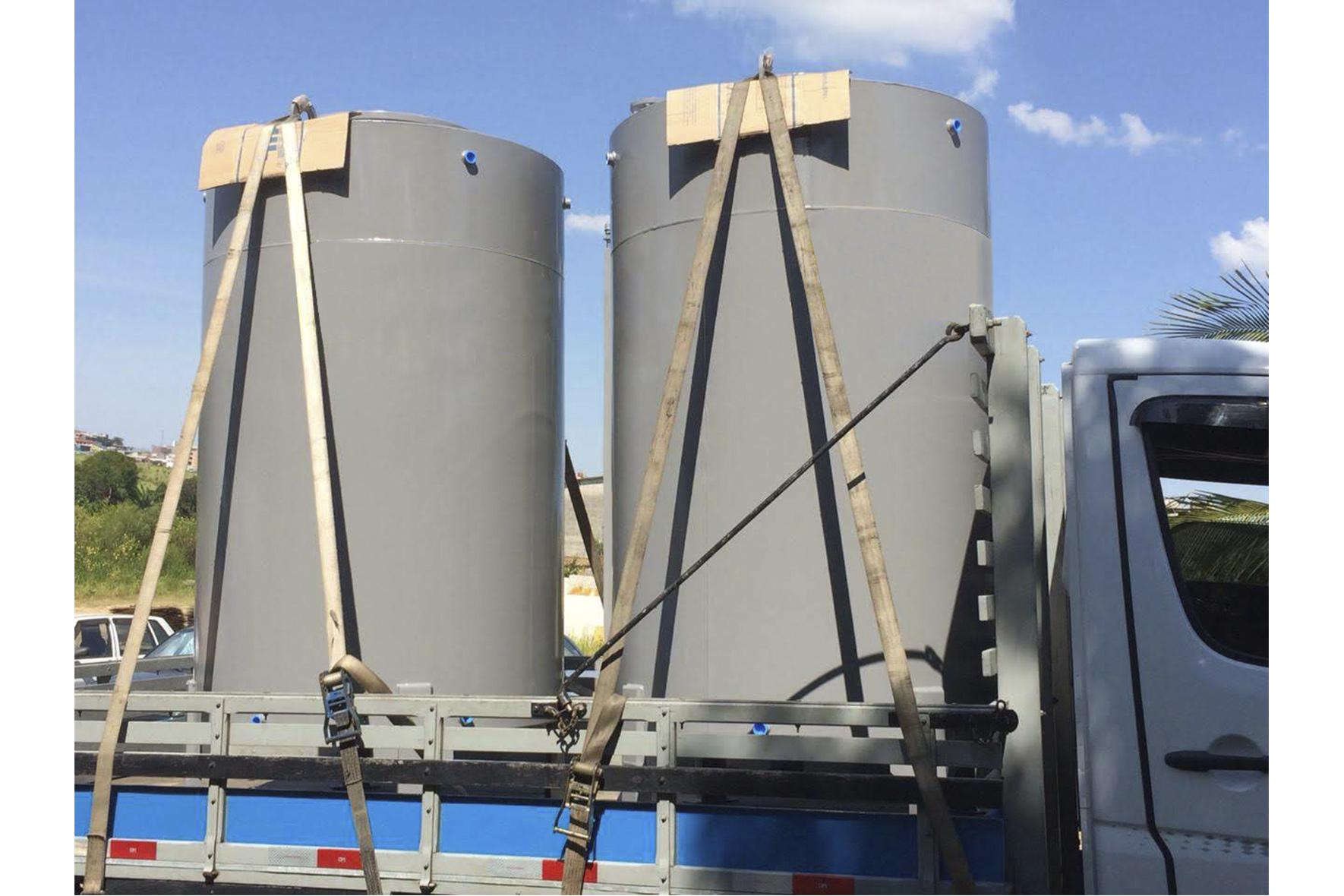 Tanque Aéreo Vertical em Aço Carbono