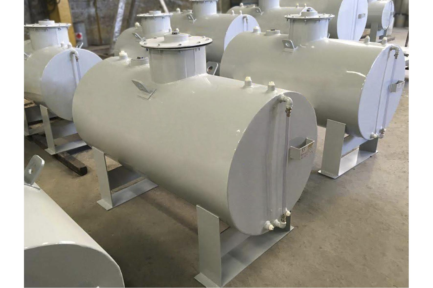 Tanque Aéreo Horizontal em Aço Carbono