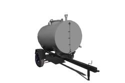 Carretinha Reboque Abastecedora de Aço Carbono ou Inox