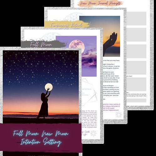 Full Moon New Moon Rituals & Intention Setting