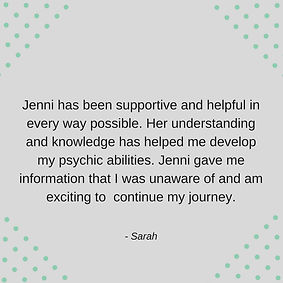 Review for courses done with Jenni Greenfield Psychic CHannel