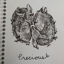 Inktober day 9_ precious._._._._._._._._