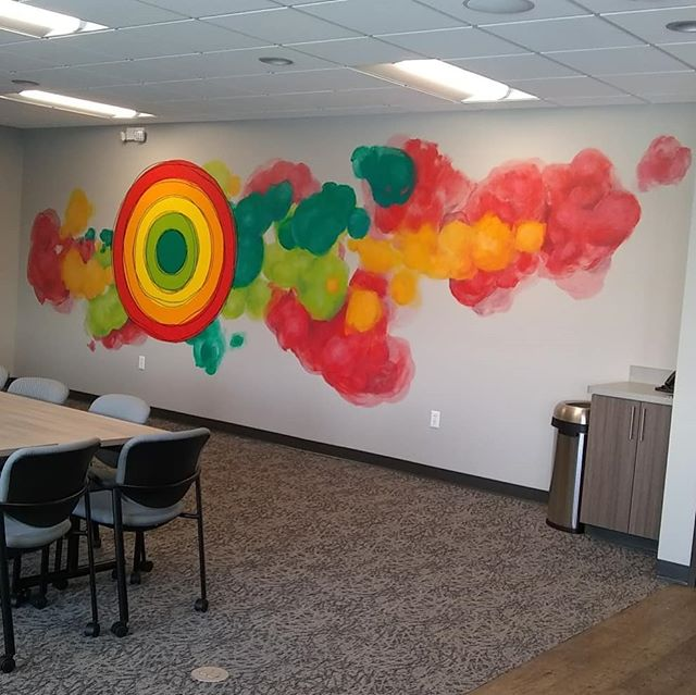 Big colorful mural finished! Thank you _