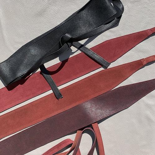 Cinturona morbida in camoscio