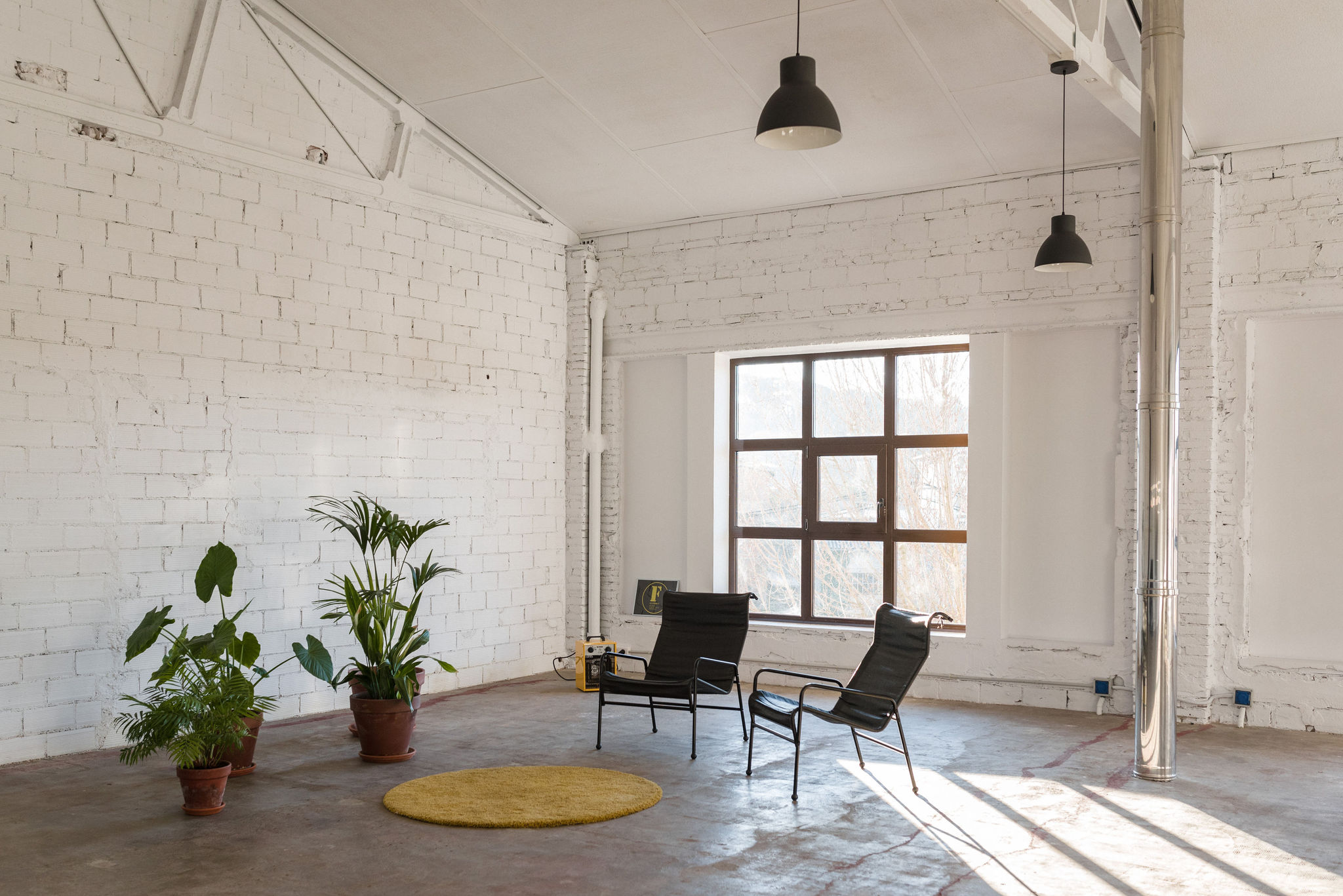natural light, photography spaces, inspiration, industrial style