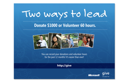 Leadership Poster for Give Campaign