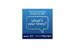 Give Campaign Sticker