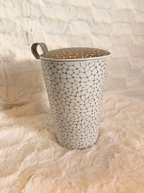 Tisanière céramique Stone platine light