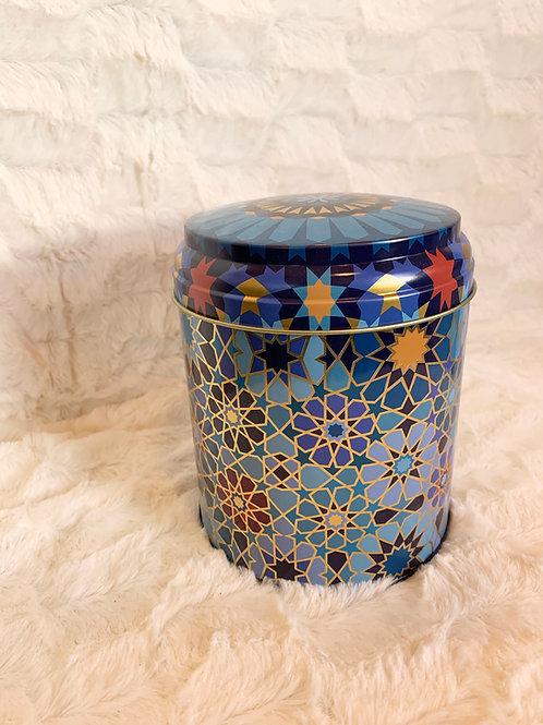 Boite à thé ou tisane Moucharabieh bleu