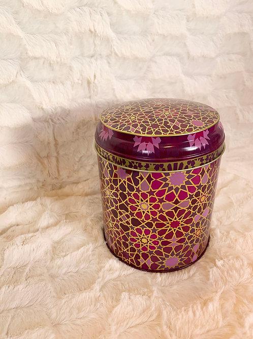 Boite à thé ou tisane Moucharabieh violet