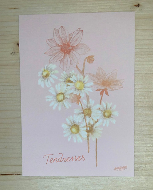 Carte simple - Tendresses