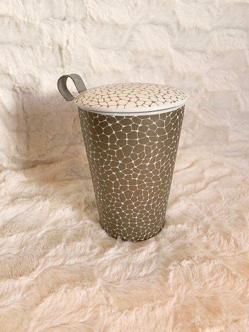 Tisanière céramique Stone platine dark