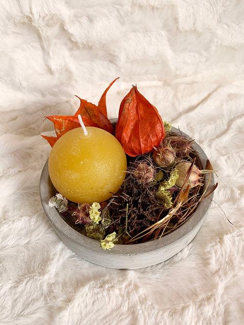 Décoration fleurs sechees ronde - Taille S