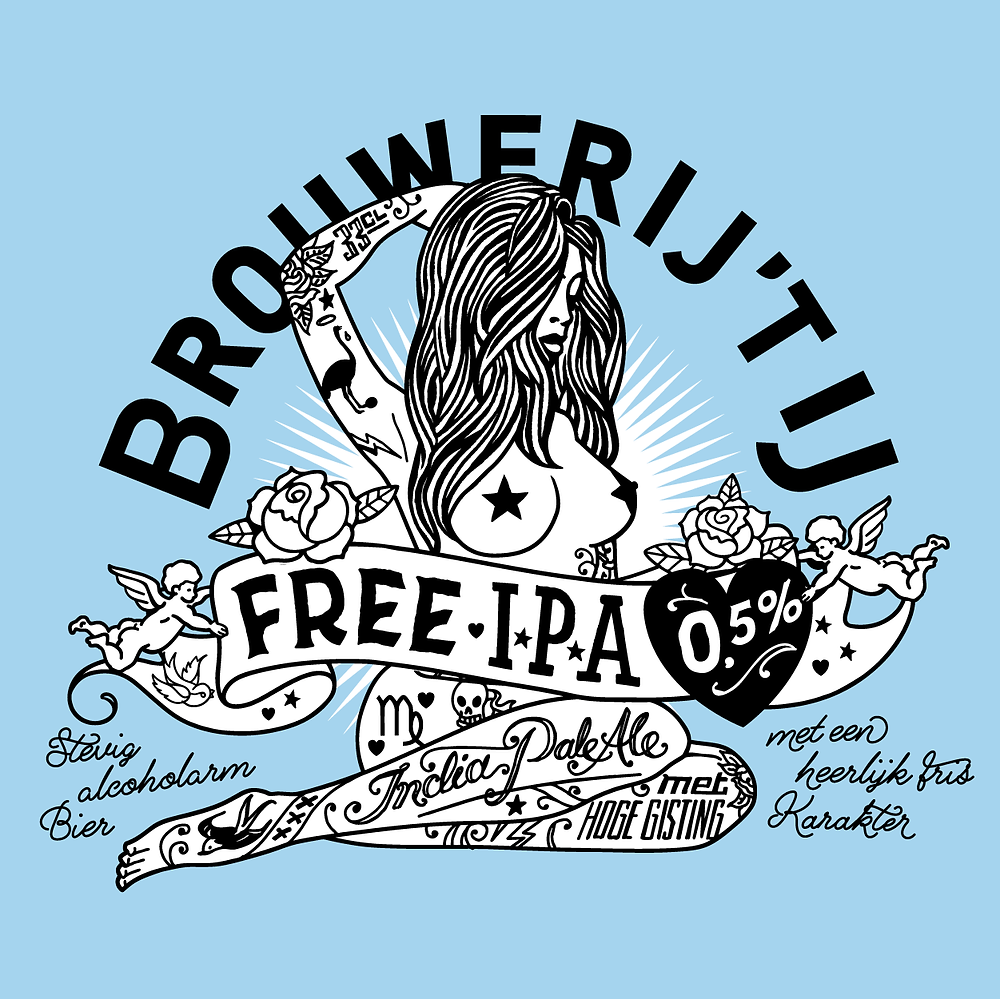 free ipa 't ij brouwerij alcoholvrij crafbier