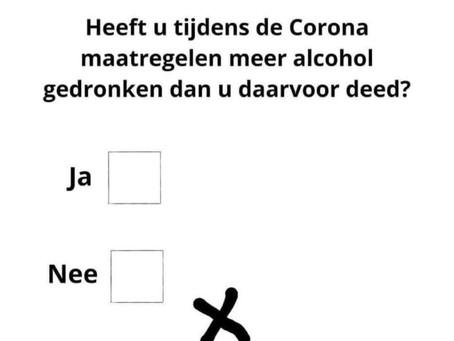 Corona zorgt voor overmatig drinken