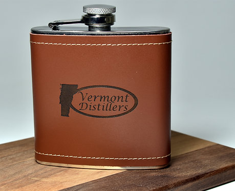 6oz Leather Wrapped Flask