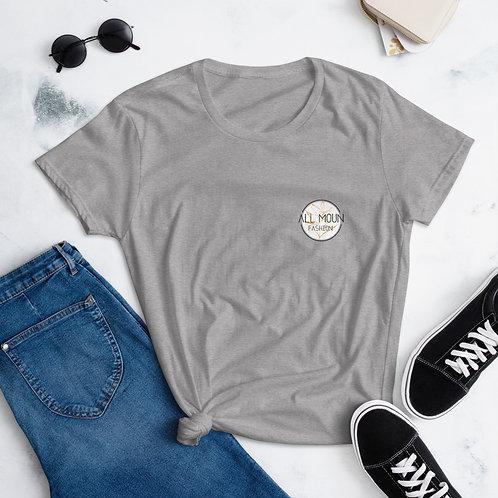 T-shirt gris logo orange